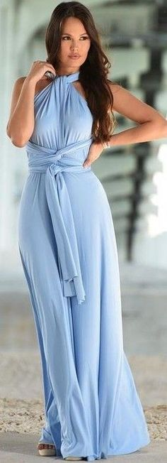 #summer #sensual #chic #outfits |  Baby Blue Gown