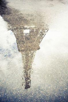 reflejo de lluvia en Paris