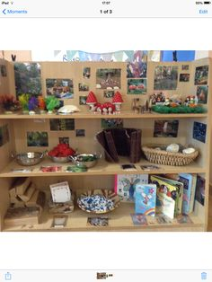 Natural items with small world looks god fun - also can link in with our topic as we can explore feelings and emotions of characters within small world play. Eyfs Classroom, Classroom Ideas, Book Area, Reggio, Reception Class, Early Years Classroom, Continuous Provision, Block Play, School Displays