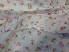 Rachel Ashwell Treasures Cottage Pink Rose Bud Ruffle Shower Curtain Retired HTF