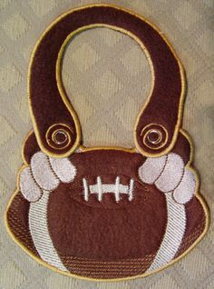 Football in the hoop bib - embroidery design from SmartNeedle