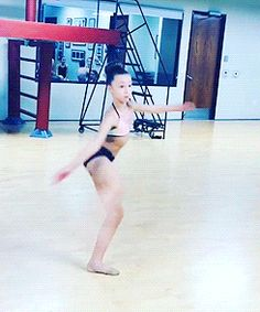 Sophia Lucia. Geese maybe she is TOO flexible.that was 4 pirouettes holding a needle!!!