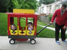 Digging this home made trolley! And Corey should be Mr. Rogers.