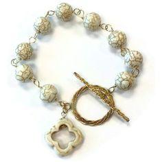 White Howlite Bracelet White Howlite Jewelry by jewelrybycarmal, $39.00