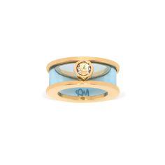 Maria Francesca Pepe Deco Plexi Ring With Swarovski Shop now> https://www.mariafrancescapepe.com/showplarge.aspx?prodid=909&catid=50&utm_source=Social&utm_medium=Pinterest&utm_campaign=ss15_city_plexi_ring_blue