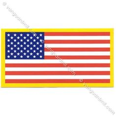 21120311a45 Decal  American Flag - 2 by 3¾ inches Military Insignia