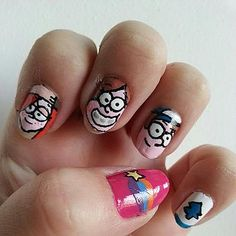 Gravity Falls by Zoomnails, via Flickr, I wish it was my nails.