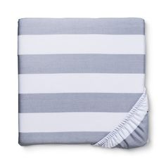 Circo® Rugby Stripe Woven Fitted Crib Sheet