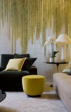 de Gournay willow design on sterling silver gilded paper