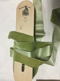 Mousquetaire Brand, Velvet Ribbons, Silk cotton ribbons. Col. Nile Ribbon.  Sold by the roll of 10 yards.  Made in France. by AnafrezNotions on Etsy