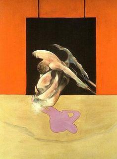 FRANCIS BACON    Figura en movimiento 1978    óleo y pastel sobre tela,    198* 147,5 cm.    Colección particular, Los Ángeles.