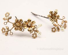 Floral Bobby Pins by BeSomethingNew
