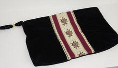 Vintage Black Velvet Wristlet Clutch Bag by 2goodponiesvintage, $29.00