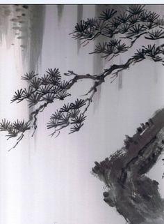 Sumi-e Pine Branch