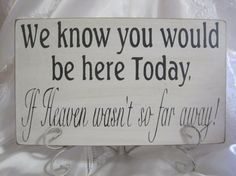 wedding sign with pictures of lost family and friends