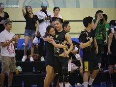 This is the pretty Kathryn Bernardo giving a bear hug to Daniel Padilla after his team won at the basketball game during the Star Magic Games 2016 at the Celebrity Sports Plaza in Quezon City last May 22, 2016. Indeed, KathNiel is my favourite Kapamilya love team, and they're amazing Star Magic talents. #KathrynBernardo #TeenQueen #DanielPadilla #KathNiel #KathNielBernaDilla #StarMagicGames #StarMagicGames2016