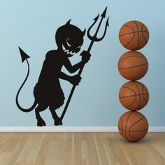 Cartoon Devil Halloween Wall Art Sticker Wall Decal - Halloween - Seasonal