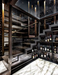 17 Contemporary Wine Cellar Designs That Will Add A Touch Of.- 17 Contemporary Wine Cellar Designs That Will Add A Touch Of Elegance To Your Home - Dream House Interior, Luxury Homes Dream Houses, Dream Home Design, Modern House Design, Contemporary Home Design, Mansion Interior, Contemporary Bathrooms, Cave A Vin Design, Wine Cellar Design