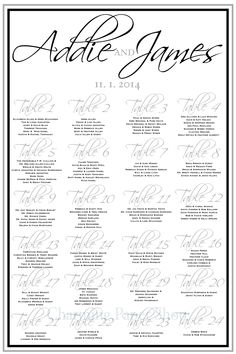 Wedding Seating Chart Seatingforlargewedding Hugewedding