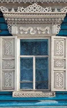 Carved windows frames of Russia. Wooden Architecture, Russian Architecture, Beautiful Architecture, Architecture Details, Old Windows, House Windows, Windows And Doors, Window Shutters, Window Frames