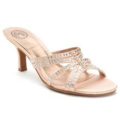 SO+Women's+High+Heel+Slide+Dress+Sandals