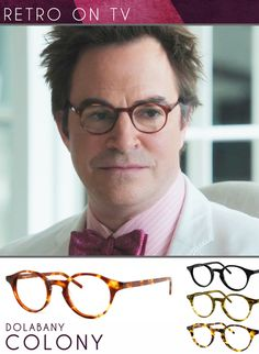 Addicted to the hit TV show 'Revenge' on ABC. More addicted to the glasses worn by guest star Roger Bart, who plays Mason Treadwell, a wealthy writer who comes to town seeking a story. Get the look with Dolabany Colony here.