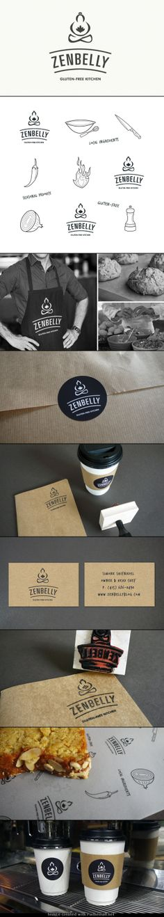 ZENBELLY! gluten free kitchen #identity #packaging #branding PD