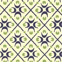 Blue and Green Crescent Print Italian Paper ~ Carta Varese Italy