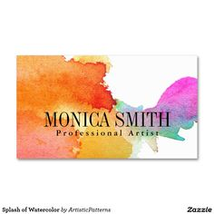 Splash of Watercolor Double-Sided Standard Business Cards (Pack Of 100)