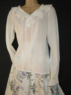 LAURA ASHLEY VINTAGE Snow-Drop  Ethereal by VINTAGELAURAASHLEY