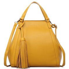 Nellie Mustard Classic Tote Handbag ($65) ❤ liked on Polyvore featuring bags, handbags, tote bags, tote purses, tote handbags, yellow tote, handbags totes and yellow purse
