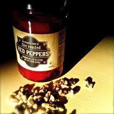 Vegan, hearty, simple roasted red pepper pasta sauce; Momsicleblog