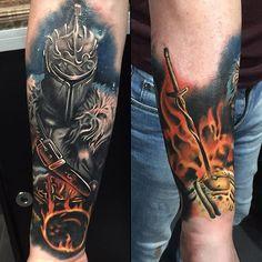 Dark Souls tattoo done by @arnlyonstattoo. #tattoo #tattoos #ink…