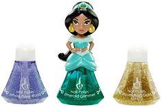 Disney Princess Little Kingdom Makeup Sets (Jasmine Nail Polish - Emerald Glimmer) -- Click image for more details.