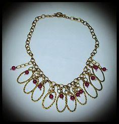 El Secreto Encanto De La Diva: Bronze and crystal beads for this lovely necklace. You can see it in: http://elsecretoencantodeladiva.blogspot.com.ar/2014/05/los-collares-de-la-diva-1-parte.html