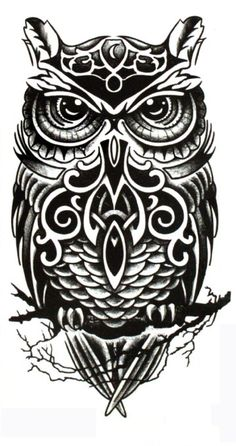 Yeeech Temporary Tattoo Paper Owl Sex Products Black for Men Women