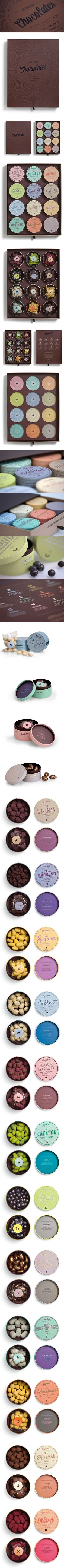 The whole branding and packaging for 2012 Chocolates With Attitude