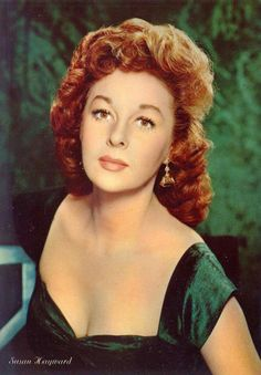 Susan Hayward (June 1917 – March was an American actress. After working as a fashion model in New York, Hayward traveled to. Hollywood Actor, Golden Age Of Hollywood, Vintage Hollywood, Hollywood Actresses, Classic Hollywood, Actors & Actresses, 1940s Actresses, Hollywood Icons, Hollywood Stars