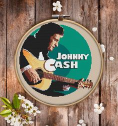 This is modern Johnny Cash cross-stitch pattern for instant download. Cool picture of country music icon to decorate your living space. You will get 7-pages PDF file, which includes: - main picture for your reference; - colorful scheme for cross-stitch; - list of DMC thread colors (instruction and key section); - list of calculated thread length The size of the picture is 6.93 X 7.50 (17.60 cm X 19.05 cm) - 120 X 120 stitches on Aida 14 count It is a digital pattern and will be available…