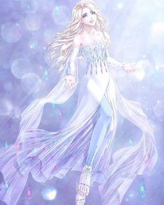 Disney Princess Frozen, Disney Princess Pictures, Arte Disney, Disney Fan Art, Punk Disney, Elsa Anime, Freezing Anime, Frozen Art, Frozen Anime