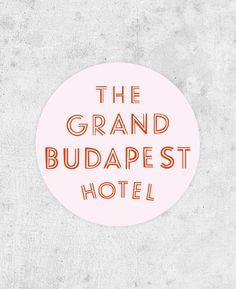 The Grand Budapest Hotel Sticker - Wes Anderson film, ralph fiennes, royal tenenbaums, moonrise kingdom, saoirse ronan