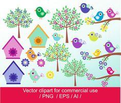 Weinig vogels clipart vogels vector vogels digitaal voor