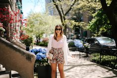 I love anything high waisted, so it's no surprise that I'm completely obsessed with these Tie Waist Floral Shorts for summer!