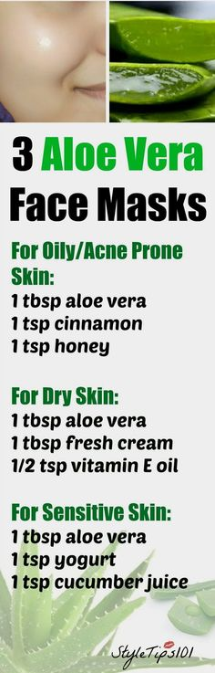 3 Aloe Vera Face Masks For Every Skin Type Aloe Vera For Face, Aloe Vera Face Mask, Aloe Face, Aloe Vera Skin Care, Beauty Care, Beauty Skin, Health And Beauty, Beauty Tips, Diy Beauty