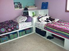 Storage beds (twin) with Corner unit | Do It Yourself Home Projects from Ana White