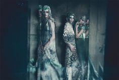For Vogue Italia's September 2011 supplement Paolo Roversi photographed Frida Gustavsson, Jac Jagaciak and Kristina Salinovic wearing the Fall Couture collections of Valentino,  Chanel, Jean Paul Gaultier and Atelier Versace, with a beautiful styling job by Lori Goldstein.