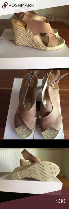 Wedge sandals Taupe Dolce Vita sandals worn 2 times.  Excellent condition. Dolce Vita Shoes Sandals