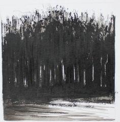 Rabley Woods, dusk  by Martyn Brewster