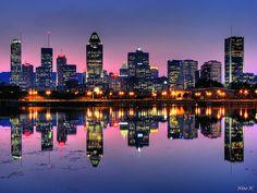 Montréal de nuit depuis l'île ste Hélène