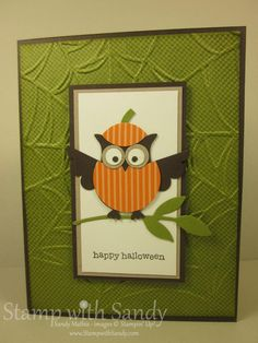Stamp With Sandy: Owl Punch Cards for Halloween